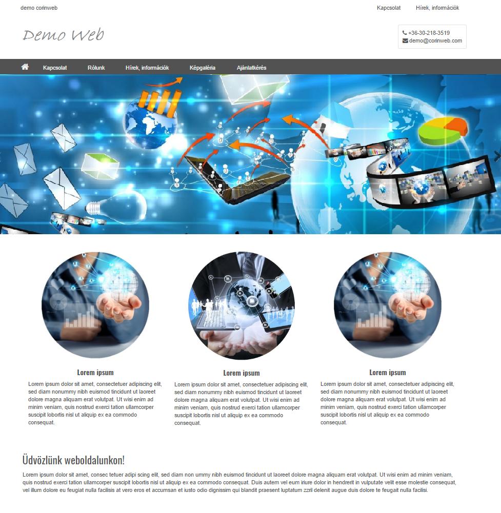 CorinWeb - CorinWeblap bemutatkozó oldal