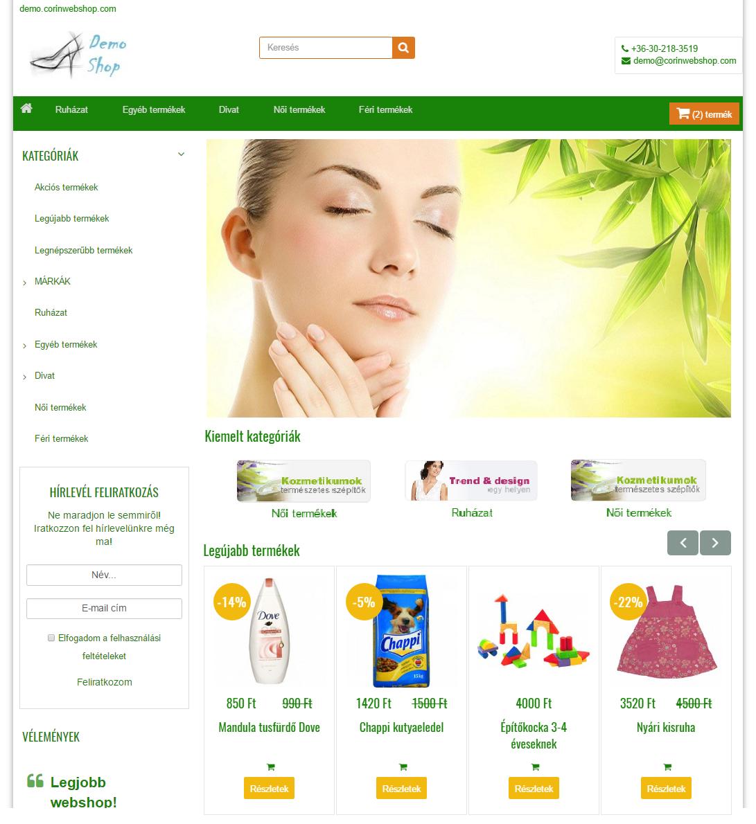 GreenJade - letisztult, funkcionális, friss megjelenés