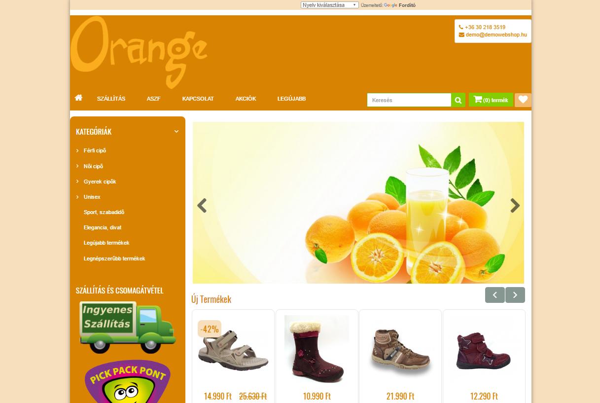 OrangeJuice - vidám, színes, áttekinthető