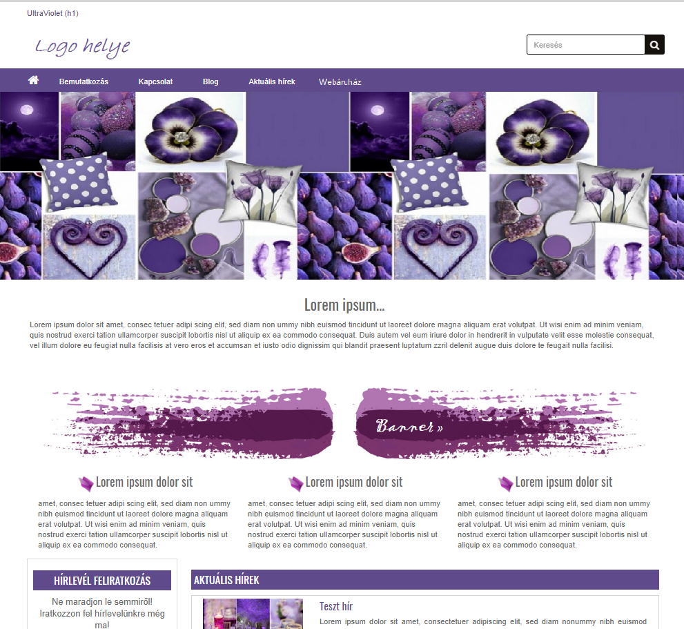 Ultraviolet - modern megjelenés, bloggal